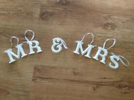 Wedding Hanging Mr & Mrs Letters