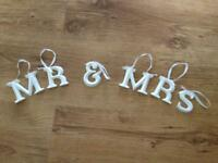 Hanging Mr & Mrs Letters