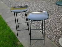 Pair of nice retro stools industrial look