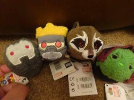 New guardians of the galaxy Marvel tsum tsum Sets Star-Lord, Raocket Raccoon, Gamora and War-Machine