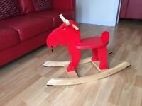 Ikea red rocking moose
