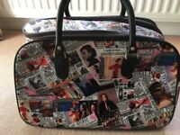 Overnight / Luggage Bag with Magazine Pattern