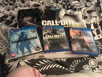 PlayStation 4 boxed with 3 games and 2 controllers £250