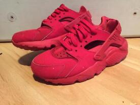 All red huraches size 3
