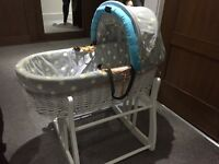 Baby's Moses Basket Crib with rocking stand