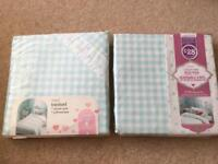 Next girls corned duvet set and matching curtains brand new