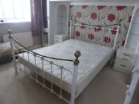 king size bed and matress