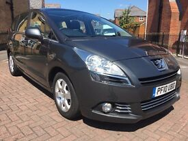 2010 PEUGEOT 5008 1.6 HDI SPORT 7 SEATER 5DR GREY