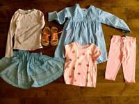 Bundle girl clothes 4 to 5 years old, monsoon, vertbaudet..