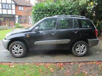 Toyota Rav4,2003,95000 miles,DIESEL,5 door,MOT September 2017/history,manual,air conditioning,cloth.