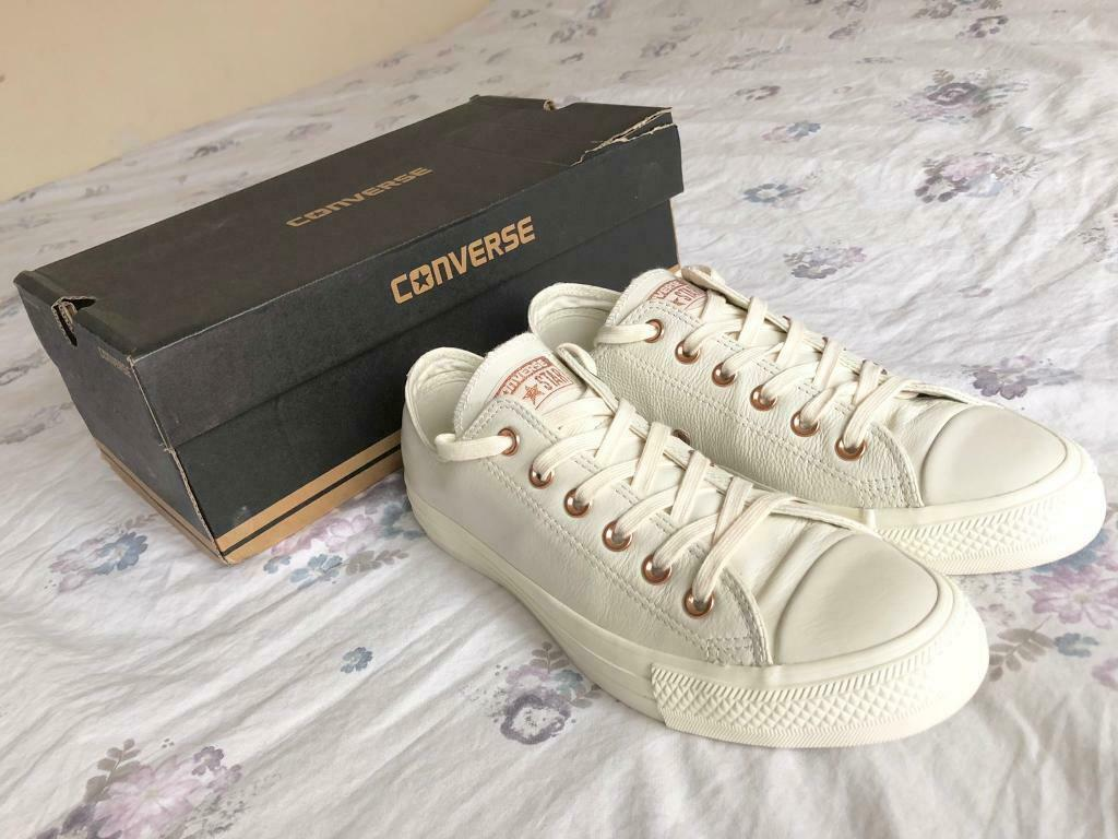 Converse All Star Low Leather Egret Rose Gold Exclusive - Size 7. | in  Sandwell, West Midlands | Gumtree