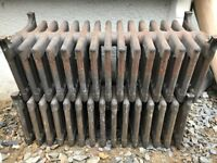 "2 x 9 Column Cast Iron Squat Radiators 15 Section, 13"" High, Antique Victorian, £250 ONO for the 2"