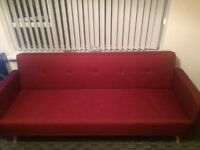 Ideal home Quinn red sofa bed