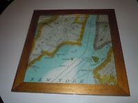 NEW YORK CITY MAP PRINT PICTURE SET OF 4