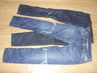 2 x Pairs of Mens Replay + G Star Raw Jeans / Denims - Size 29 x 32 - Great Used Condition Only £12