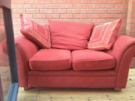 Medium size 2 seater sofa.good condition.1 year old.very comfortable..sturdy comfy seats.CHOICE OF 2