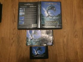Sega Mega drive Ecco the dolphin complete in box with manual
