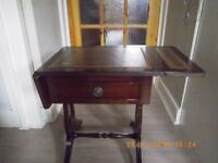 Two small drop leaf side tables