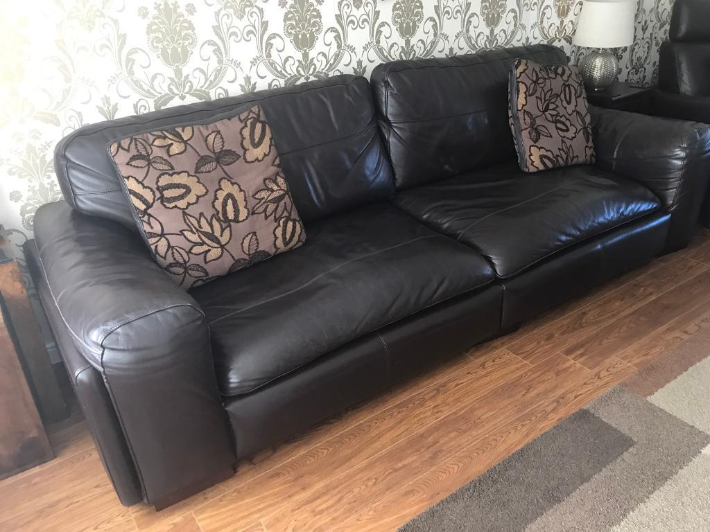 4 Seater Leather Sofa Recliner | Baci Living Room