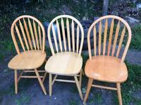 3x retro dining chairs