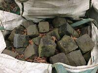 Granite stone cobbled