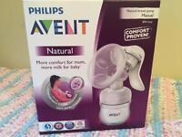 Manual Philips breast pump brand new