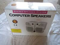 Stereo PC Computer Speakers. 160W. Suitable for CD, CD Rom, Sound cards.