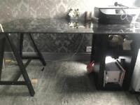 Stunning Ikea Glass Desk complete with executive chair