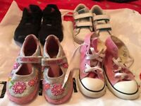 Girls infant size 9 bundle, Lelli kelly, converse,Adidas