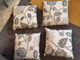 4 Brand new floral cushions