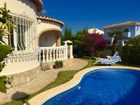 Family Holiday Villa in Denia - Costa Blanca Spain * Sleeps 7 * Private Pool *