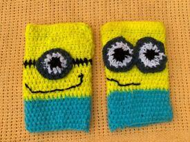 Women's hand crochet fingerless hand warmer/gloves