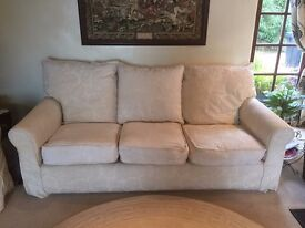 Collin and Hayes light cream 3 seater settee (new this would be over £1,500) all covers washable