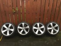 18 TTRs replica alloys with 4 good year tyres