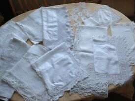 FOR SALE - Vintage Linen & Lace Tablecloths, Tray Cloths, Runners & Hankies