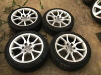"18"" Audi speedline alloy wheels 5x112 good tyres"