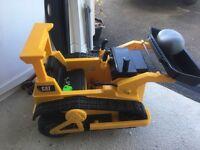CAT electric child's Digger/Bulldozer