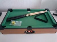 Pool table with accessories new in box