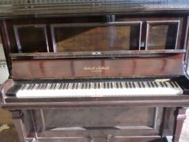 collard over strung piano tuned can deliver £180