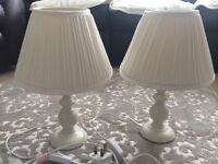 Pair of bedroom lamps