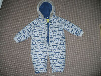 Padded Winter Outfit/Snowsuit/Pramsuit/All-in-One for Boy 12-18mths old. Excellent condition!