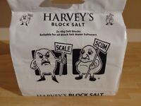 10x Packs of Harvey's Water Softener Block Salt - 2x 4kg blocks in each pack