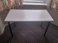 IKEA LINNMON Table - White/Black
