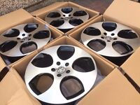 "4 x NEW 18"" VW MONZA STYLE ALLOY WHEELS 5x112 5 112 POLISHED VW golf mk5 mk6 audi a3 a5 w203"
