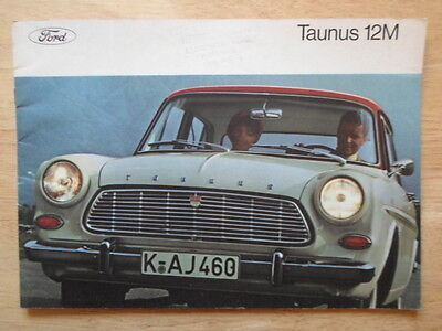 FORD TAUNUS 12M orig 1962 UK Mkt prestige brochure - Saloon Coupe Estate