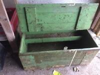 Old wooden tool chest
