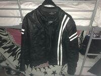 motorbike leather jacket caffe racer