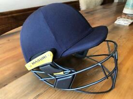 NEW 2017 Masuri Original Series MK 2 Test Titanium Cricket Helmet. Large senior. Navy blue