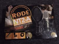 Rode NT2-A Studio Pack (w/ Condenser Microphone, shock mount, pop filter & XLR lead)