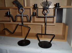 black metal candle holder / ornaments